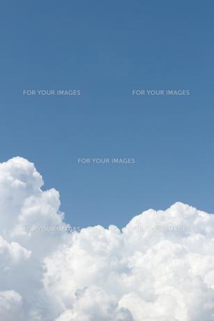 青空に広がる夏の雲の写真素材 [FYI01208313]