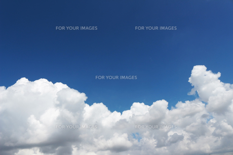 青空に広がる夏の雲の写真素材 [FYI01208315]