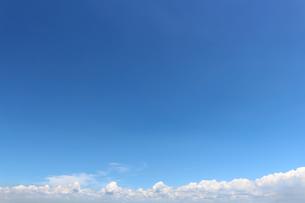 青空に広がる夏の雲の写真素材 [FYI01208316]