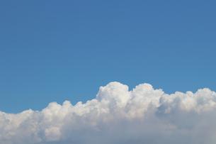 青空に広がる夏の雲の写真素材 [FYI01208319]