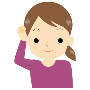 艶のある髪の女性のイラスト素材 [FYI01208403]