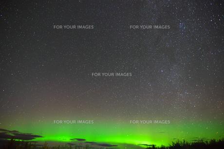 カナダ・ホワイトホースのオーロラの写真素材 [FYI01208456]