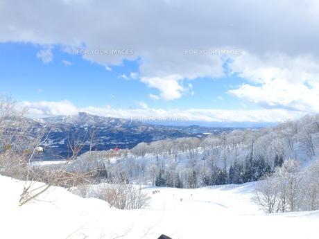 雪山からの眺めの写真素材 [FYI01208658]