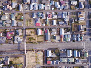 住宅地の空撮の写真素材 [FYI01208961]