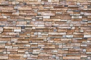 緻密に積み上げられた石の壁の写真素材 [FYI01209343]