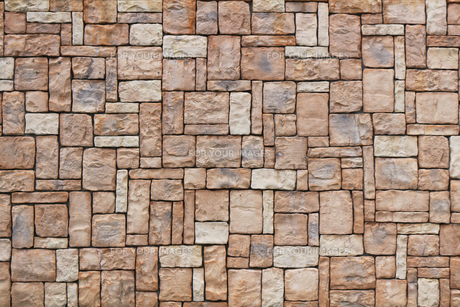 緻密に積み上げられた石の壁の写真素材 [FYI01209344]