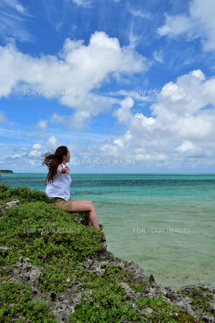 宮古島/夏の風景の写真素材 [FYI01209755]