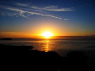 地平線に広がる夜明けの写真素材 [FYI01209890]