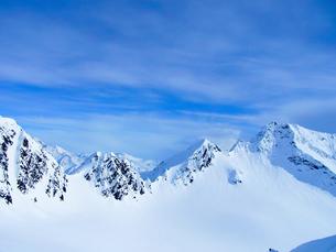 雪景色の山々の写真素材 [FYI01209891]