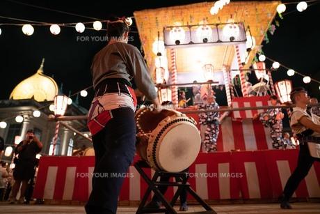 夏祭りと太鼓の写真素材 [FYI01209895]