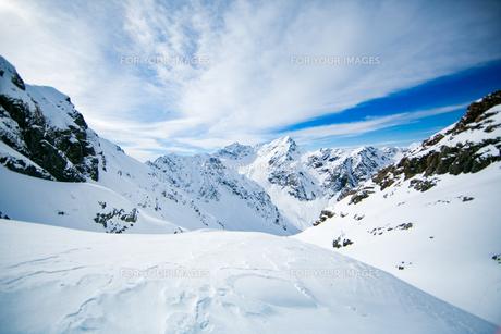 快晴と雪景色の写真素材 [FYI01209903]