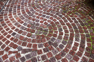 レンガが敷かれた歩道の写真素材 [FYI01209934]