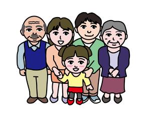 三世代家族のイラスト素材 [FYI01210211]