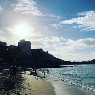 ハワイ・ワイキキビーチの写真素材 [FYI01210276]