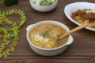 にんにくスープの写真素材 [FYI01210630]