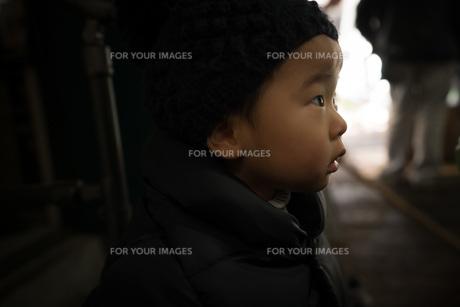 集中する子供の写真素材 [FYI01211126]