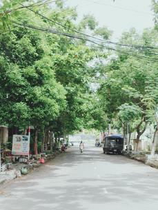 ベトナム、ダナンの街並みの写真素材 [FYI01211171]