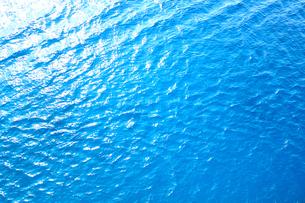 青い海の水面のテクスチャの写真素材 [FYI01211199]