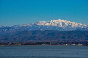 日本三大霊山 白山 石川県加賀市からみた風景の写真素材 [FYI01211395]