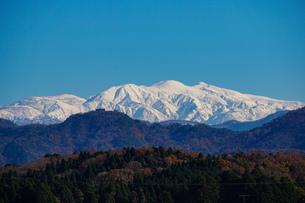 日本三大霊山 白山 石川県加賀市からみた風景の写真素材 [FYI01211397]