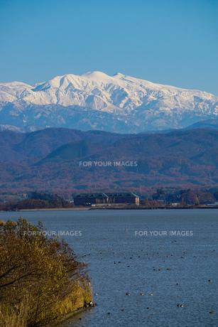 日本三大霊山 白山 石川県加賀市からみた風景の写真素材 [FYI01211398]
