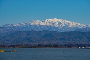 日本三大霊山 白山 石川県加賀市からみた風景の写真素材 [FYI01211399]