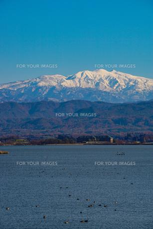 日本三大霊山 白山 石川県加賀市からみた風景の写真素材 [FYI01211400]
