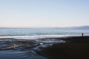 初秋の湘南ビーチの写真素材 [FYI01211497]
