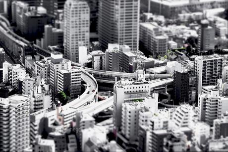東京の街のジオラマ風写真の写真素材 [FYI01211527]