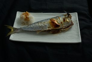 さんまの塩焼き 和食の写真素材 [FYI01211956]
