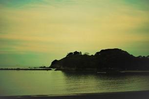 伊勢志摩白浜海岸(夕景)の写真素材 [FYI01212323]