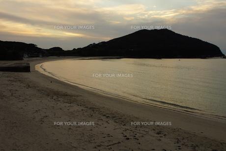 伊勢志摩白浜海岸(夕景)の写真素材 [FYI01212344]