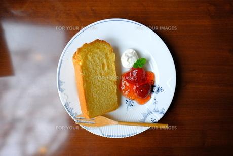 シフォンケーキの写真素材 [FYI01212524]