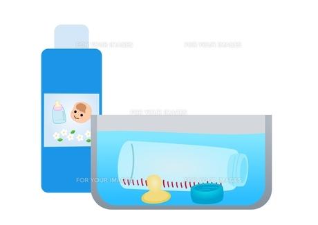 哺乳瓶 消毒のイラスト素材 [FYI01212794]