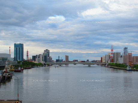 港街の写真素材 [FYI01213324]