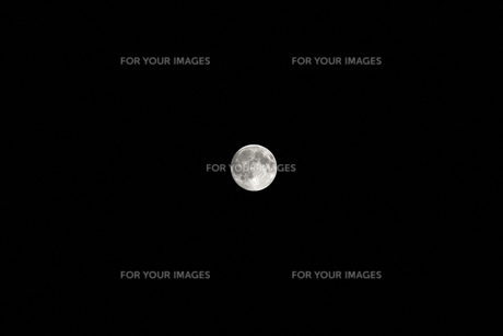 夜の空に光る満月の写真素材 [FYI01213367]