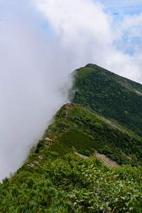 山頂で雲を堰き止めるの写真素材 [FYI01213510]