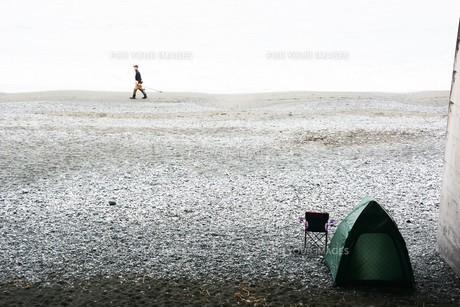 秋のビーチ・季節の背景素材の写真素材 [FYI01213749]