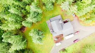 空からみた家の写真素材 [FYI01213842]