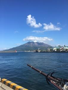 雲冠の桜島の写真素材 [FYI01214154]