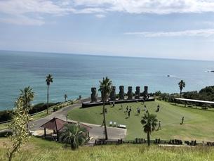 サンメッセ日南モアイ像の写真素材 [FYI01214994]