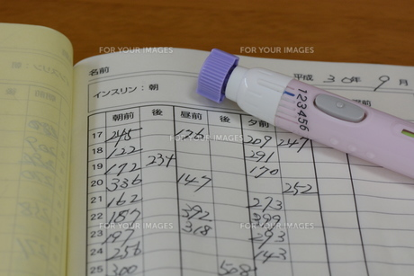 血糖値測定 / 糖尿病治療の写真素材 [FYI01215140]