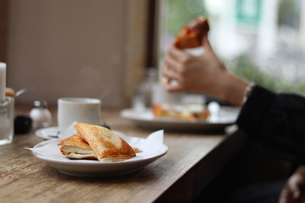 カフェとトーストの写真素材 [FYI01215235]