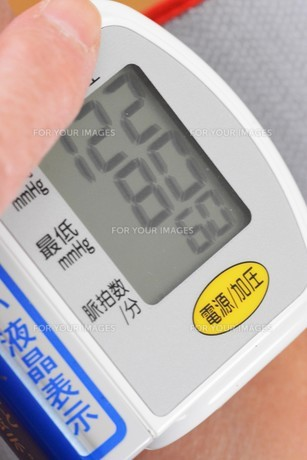 血圧測定の写真素材 [FYI01215329]