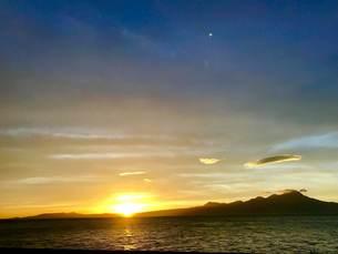 夕陽の写真素材 [FYI01215428]