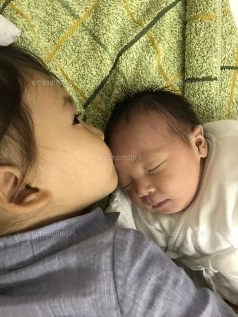 お姉ちゃんになった日の写真素材 [FYI01215684]