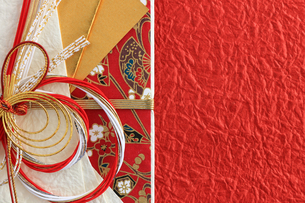 日本のお祝いをイメージしたご祝儀袋のクローズアップ写真の写真素材 [FYI01216176]