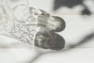 ガラス瓶の影と反射した光の写真素材 [FYI01216599]