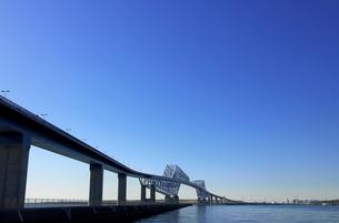 東京湾ゲートブリッジ全景の写真素材 [FYI01216719]