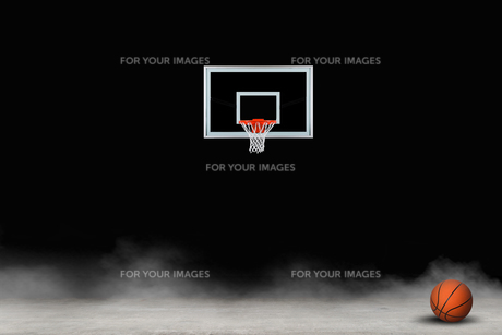 バスケットボール クール背景イメージのイラスト素材 [FYI01217886]